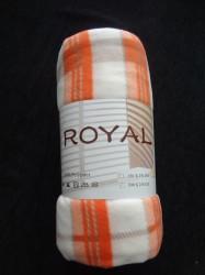Κουβέρτα Φλις Πορτοκαλί Καρρώ