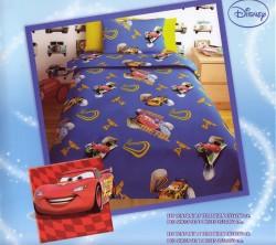 Σεντόνι Παιδικό Disney Cars Μπλε Rotary
