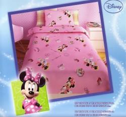 Σεντόνι Παιδικό Disney Minnie Ροζ Rotary